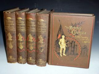 Monthly Chronicle of North-Country Lore and Legend, 1887-1891 (5 volumes) ,all Published