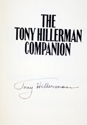 The Tony Hillerman Companion; a Comprehensive Guide to His Life and Work (signed By Tony Hillerman