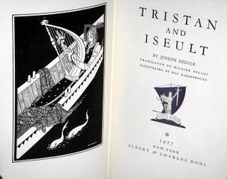 Tristan and Iseult, Translated By Hilair Belloc