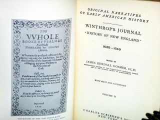 """Winthrop's Journals """"History of New England"""" (Original Narratives of Early American History), 2 Vol Set"""