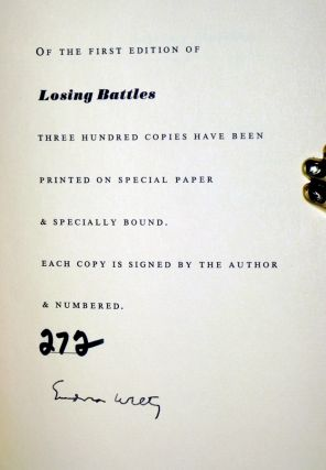 Losing Battles (Signed, Limited Edition #272 of 300 Copies)