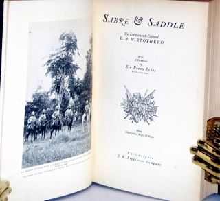 Sabre & Saddle; Foreword By Percy Sykes