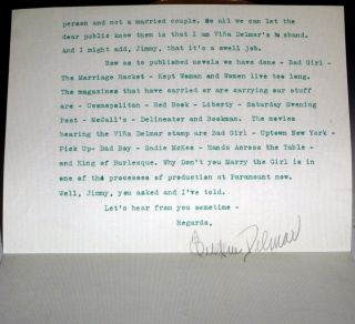 2p. Typed Letter Signed to Jimmy Robinson, Editor, Sports Afield, Ca. 1936