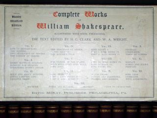 The Complete Works of Shakespeare, 13 Volumes, [Handy Stratford Ed.] (edited By H.G. Clark and W.A. Wright