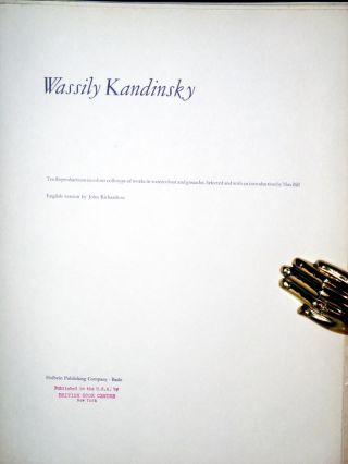 Wassily Kandinsky, Ten Reproductions Inf Colour Collotype of works in Watercolor and Gouache