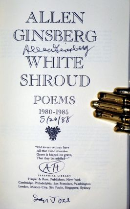 White Shroud: 1980-1985 (signed by the Author) May 20, 1988, with Additional AH, San Jose