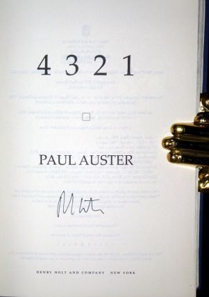 4321; A Novel (signed By the Author