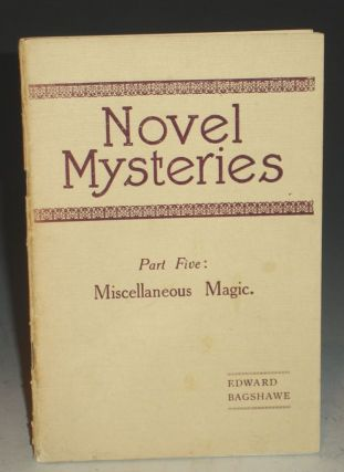 Novel Mysteries. Edward Bagshawe